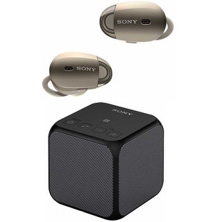 Sony 1000X Wireless Noise-Canceling Headphones (Gold) with Bluetooth Speaker