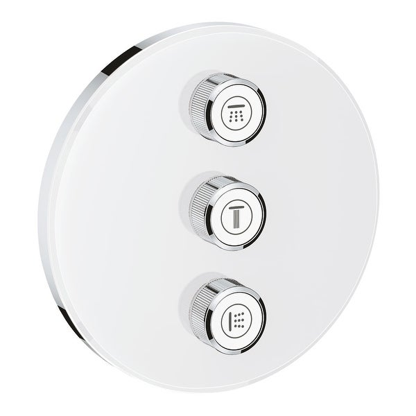 Grohe 29 152 SmartControl Triple Function Diverter Trim Only with EcoJoy - Moon White