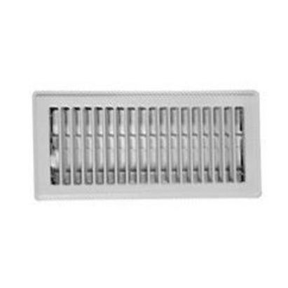 "Imperial RG0267 Floor Register, White, 4"" x 12"""