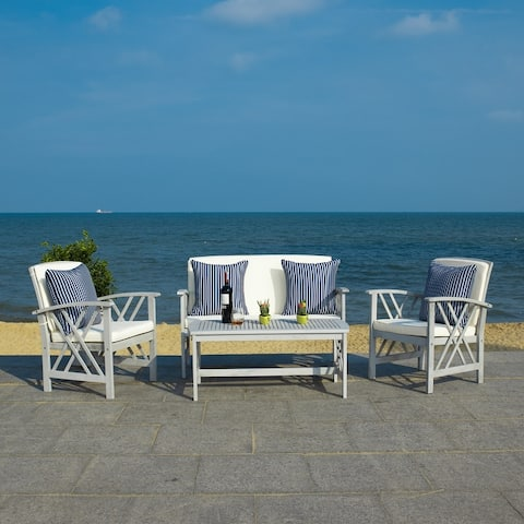 Safavieh Outdoor Living Fontana 4 Pc Outdoor Set