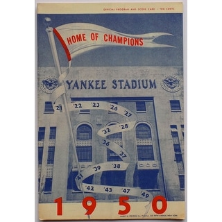 New York Yankees 1950 Yankee Stadium Home of the Champions Program & Score Card