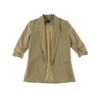 Aqua Womens Open Front 3/4 Sleeves Blazer - XS