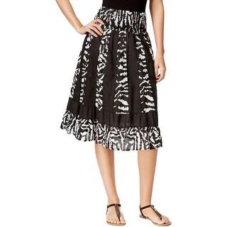 NY Collection Womens Peasant, Boho Skirt Ruffled Printed