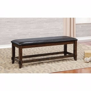 Transitional Style Bench , Brown Cherry