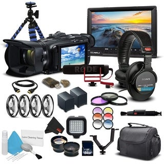 Canon VIXIA HF G21 Full HD Camcorder 2404C002 - Professional Bundle - With Monitor, Mic, 2 Extra Batteries and Much More