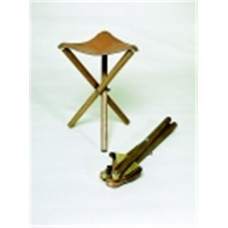 Jack Richeson Stool With Seat, Wood And Leather Seat