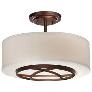 Minka Lavery 4951-267B 3 Light Semi-Flush Ceiling Fixture from the City Club Collection