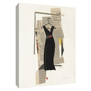 """PTM Images 9-154764  PTM Canvas Collection 10"""" x 8"""" - """"Fashion Pages II"""" Giclee Dresses Art Print on Canvas"""