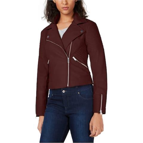 Bar Iii Womens Quilted Moto Blazer Jacket