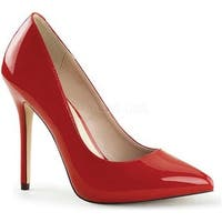 Pleaser Women's Amuse 20 Red Patent