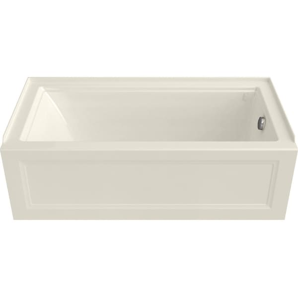 "American Standard 2545.102 Town Square S 60"" Three Wall Alcove Acrylic and Fiberglass Soaking Tub with Right Drain"