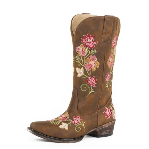 Roper Fashion Boots Womens Riley Floral Tan