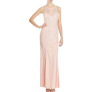 Sean Collection Womens Evening Dress Embellished Illusion