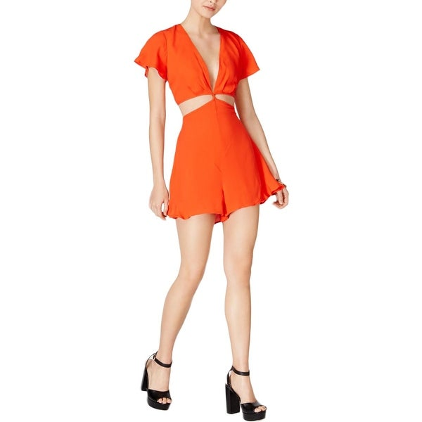 26ffba5e7aa Shop ASTR the Label Womens Viviana Romper Deep V Cutout - Free Shipping On  Orders Over  45 - Overstock.com - 23146499