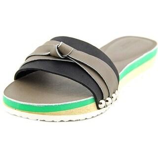 Charles David Becket Women Open Toe Leather Slides Sandal