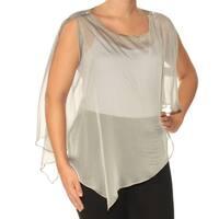 Womens Gray Jewel Neck Top  Size  6