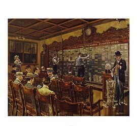 ''Stocks, 1910'' by Lee Dubin Americana Art Print (28.5 x 34 in.)