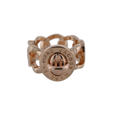 Marc by Marc Jacobs Womens Katie Right-Hand Ring Logo Turn Lock Detail