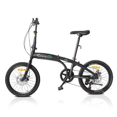 """Campingsurvivals 20"""" Folding Bikes, Portable 7 Speed Urban Commuters Cycling Bicycles"""