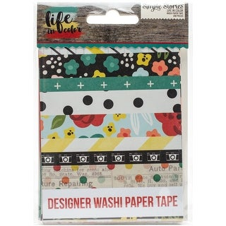 "Life In Color Washi Paper Tape 3""X4"" Sheets 24/Pkg-"