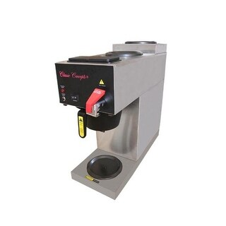 Stainless Steel Commercial Brewer - 3 Warmer with Direct Water Lin