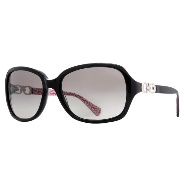Coach HC8019 L007 Beatrice 5034/11 Black Grey Women's Sunglasses - 58mm-16mm-135mm