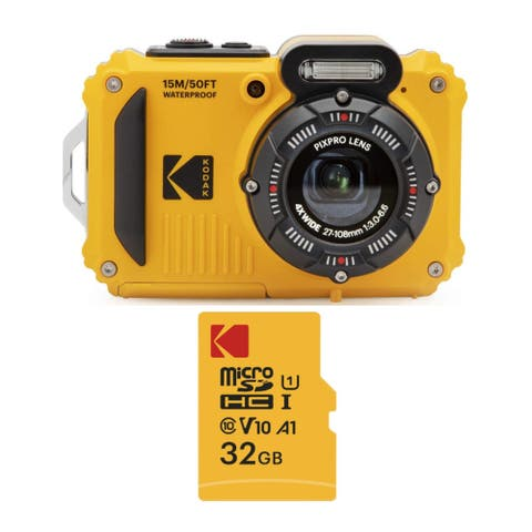 Kodak PIXPRO WPZ2 Rugged Waterproof 16MP Digital Camera and 32GB Card