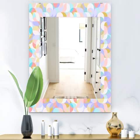 Designart 'Pastel Dreams 3' Modern Mirror - Wall Mirror