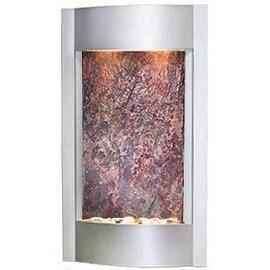 Adagio Serene Waters Fountain w/ Rajah Featherstone in Silver Metallic Finish