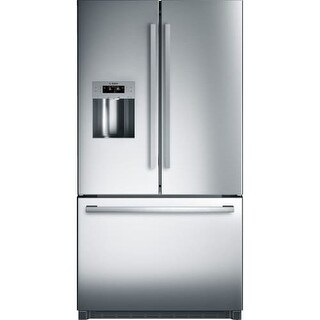 Bosch B26FT50SN 36 Inch Wide 25 Cu. Ft. Energy Star Rated French Door Refrigerat