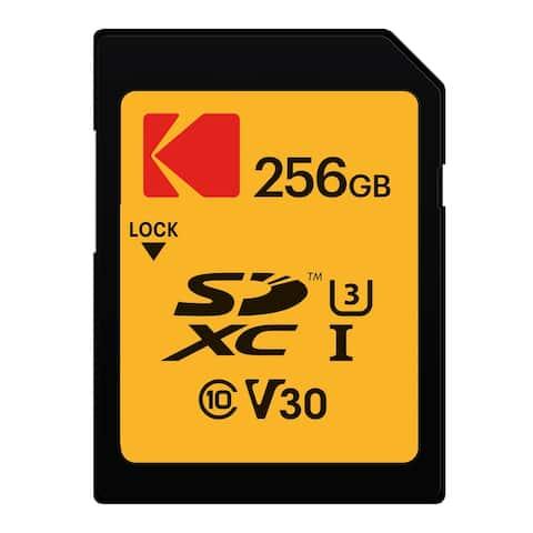 Kodak 256GB Class 10 UHS-1 U3 V30 A1 Memory Card - Yellow