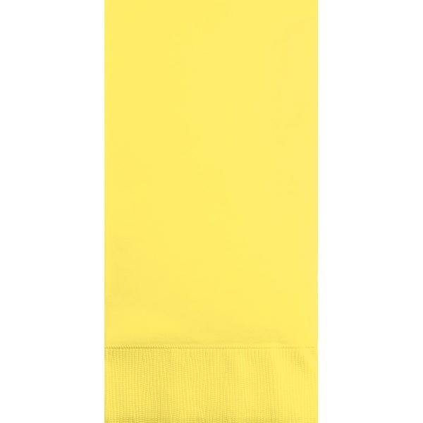 "Club Pack of 192 Mimosa Yellow 3-Ply Disposable Party Paper Guest Napkins 8"" - N/A"
