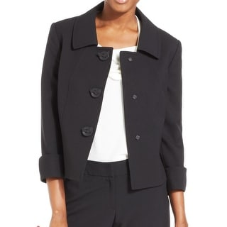 Tahari By ASL NEW Black Women's Size 16 Seamed 3-Button Jacket