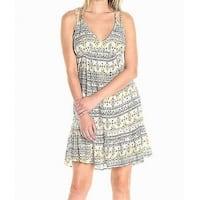 Jessica Simpson White Ivory Womens Size Medium M Aztec Shift Dress