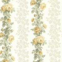 Brewster 344-68736 Preshea Yellow Rose Stripe Wallpaper - N/A