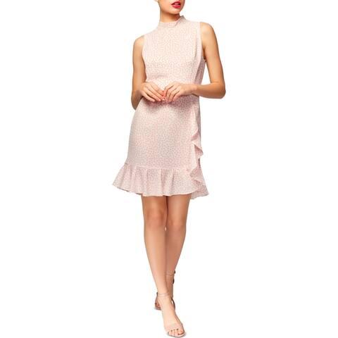 Betsey Johnson Womens Flounce Dress Polka Dot Ruffled