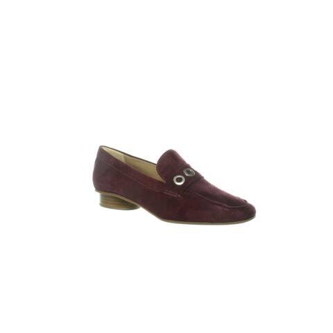 Bernardo Womens Jaden Bordeaux Suede Loafers Size 6