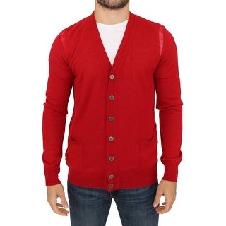 Karl Lagerfeld Karl Lagerfeld Red wool cardigan sweater