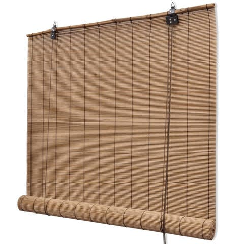 "vidaXL Brown Bamboo Roller Blinds 47.2"" x 63"""