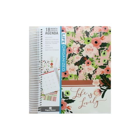 Paper House Life Org Planner 18 Month Blush&Green - Medium