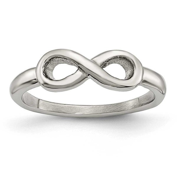 Chisel Stainless Steel Polished Infinity Symbol Ring (5 mm)