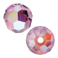 Swarovski Crystal, 5000 Round Beads 4mm, 12 Pieces, Crystal Lilac Shadow