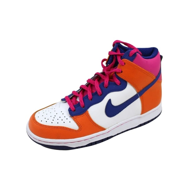 Shop Nike Grade School Dunk High Fireberrydeep Royal Blue Starfish