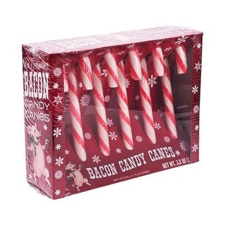 Bacon Flavored Candy Canes Box Of 6