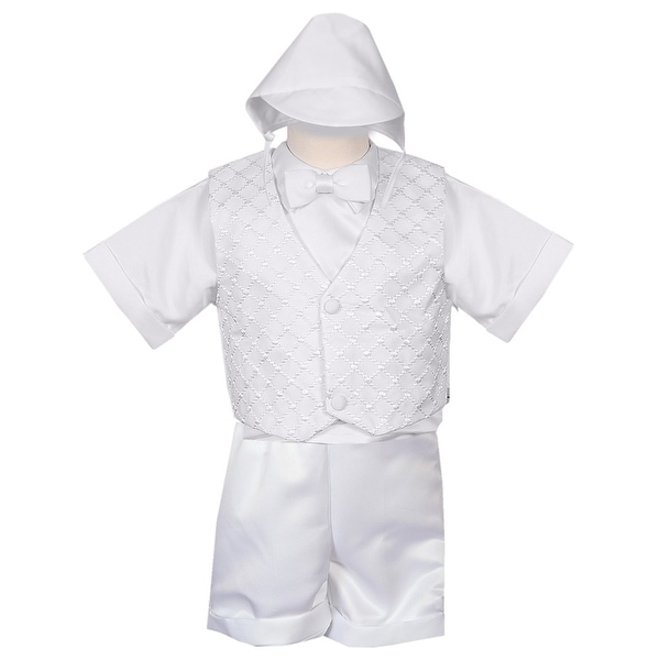 3df9baa0a Shop Rafael Collection Little Boys 4 pc Organza Vest Hat Baptism Outfit -  Free Shipping On Orders Over $45 - Overstock - 20373846