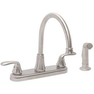 Premier 2498033 Waterfront High-Arc Kitchen Faucet with Swiveling Spout and Side Spray - CA Drought Compliant