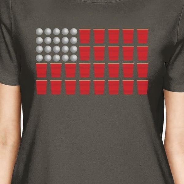 beer pong american flag shirt