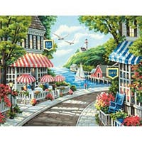 """Cafe By The Sea - Paint Works Paint By Number Kit 14""""X11"""""""