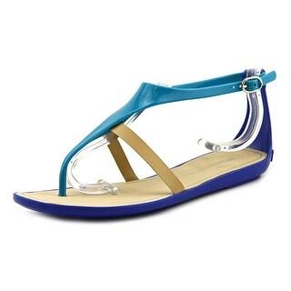 BCBGeneration Caper Women Open Toe Synthetic Blue Thong Sandal