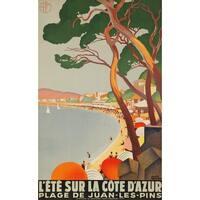 L'Ete sur la Cote d'Azur (Broders) Vintage Ad (Art Print - Multiple Sizes)